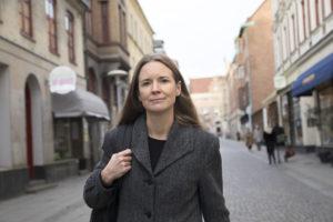 Lisa Kirsebom, moderator, författare och journalist. Lund.
